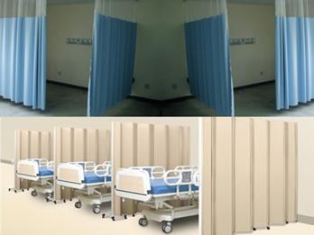 Nossa linha hospitalar de Biombos Móveis e Cortinas Divisórias de Leitos foram desenvolvidas especialmente para a área da saúde, como hospitais, clínicas e ambulatórios.